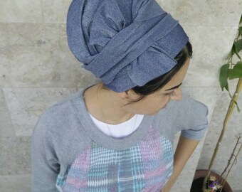Handmade Lycra one wrap Mitpachat, wrap around, apron tichel, Jewish head covering, by oshratdesignz