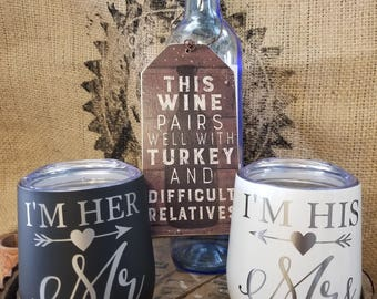 His and Hers, insulated wine, wedding gifts