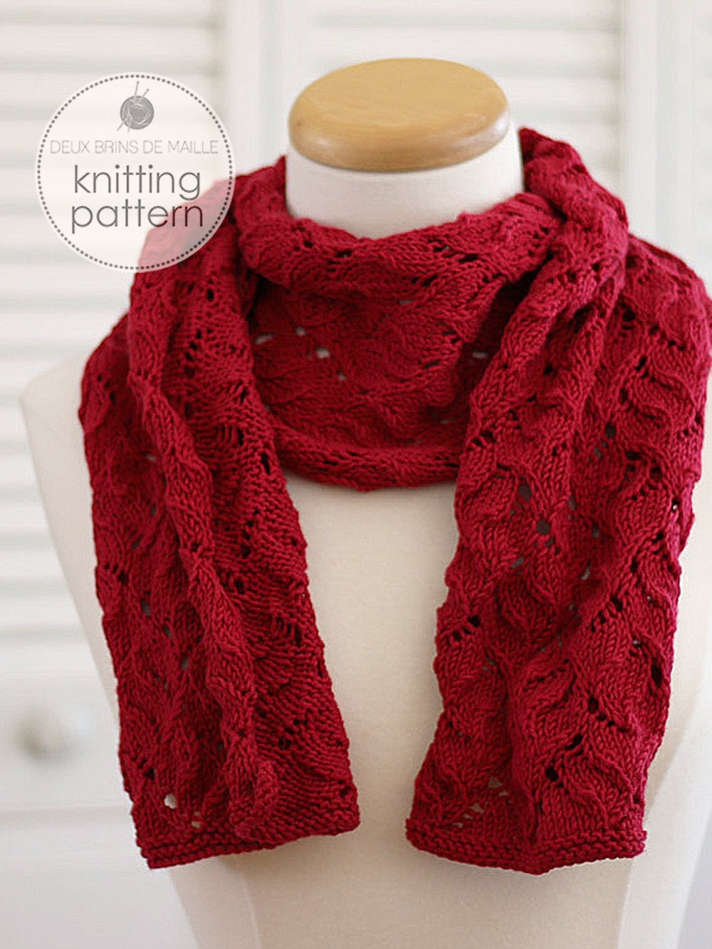 Knitting Accessories Patterns : Knitting pattern scarf knit patterns