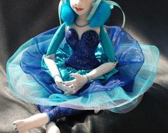 Art Doll- OOAK Collectors Fabric Art Doll