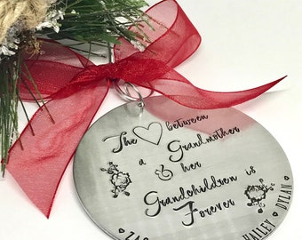 Gift for Grandma - Gift for Grandmother - Christmas Decor - Christmas Ornament - Family Christmas Ornament - The Charmed Wife - GIft for Her