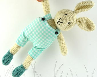 Billy,  crochet bunny, crochet rabbit, crochet toy, Ready to ship