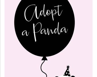 Adopt a Panda Sign
