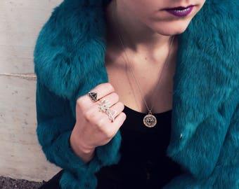 Diamond Steling Silver Ring, Stack Ring, Boho Ring, Hipster Ring, Sterling Ring, Silver Ring