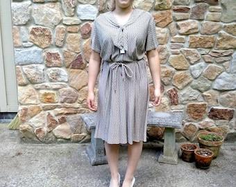 1940s dress, vintage, dress, secretary dress, sailor dress, 40s dress, M, L