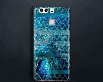 Turquoise pattern case for Huawei P9 Case rubber for HTC One M9 Case slim for HTC 10 Case for Samsung Galaxy J7 2016 Case teal glitter