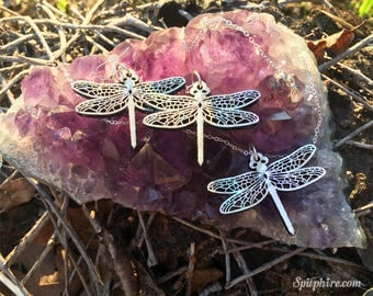 Dragonfly Earrings and Necklace Set