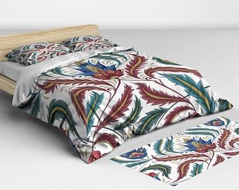 Boho Bedding - Twin Full Queen King - Boho Duvet - Matching Pillow Shams Available