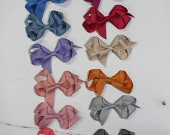 Mini Classic Grosgrain Bow, Hair Bow, Hair Clip, Big Bow, Southern Belle Bow, Ribbon Bow