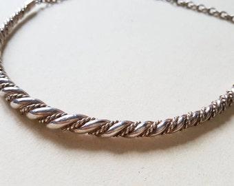"Kalevala Koru silver ""Halikko"" collier / necklace, Finland (F1118)"