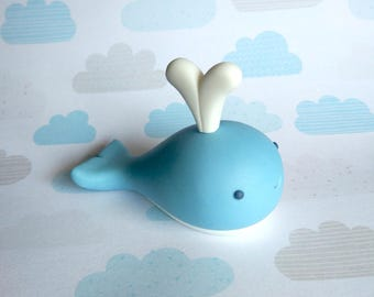 Fondant Whale Cake Topper - 1 Whale
