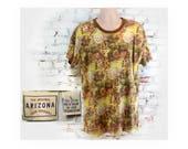 Southwest T shirt- Southwest print shirt - crew neck shirt, men's knit shirt,  short sleeve shirt, size L (large), # 92