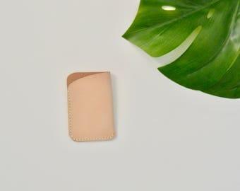 Natural Leather Card Holder/Wallet