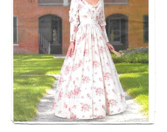 Making History Southern Belle Costume Pattern ~ Long Full Skirt Pleated Gathered Long Sleeve ~ Plus Size 14-16-18-20-22 ~ Butterick 5832 ~