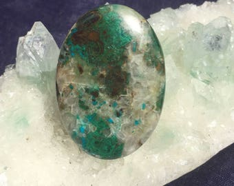 Chrysocolla Large Chrysocolla Oval Cabochon 43mm x 30.5mm