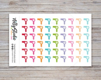 Hair Dryer Planner Stickers | Hair Appointment Stickers | Planner Stickers | The Nifty Studio [127]