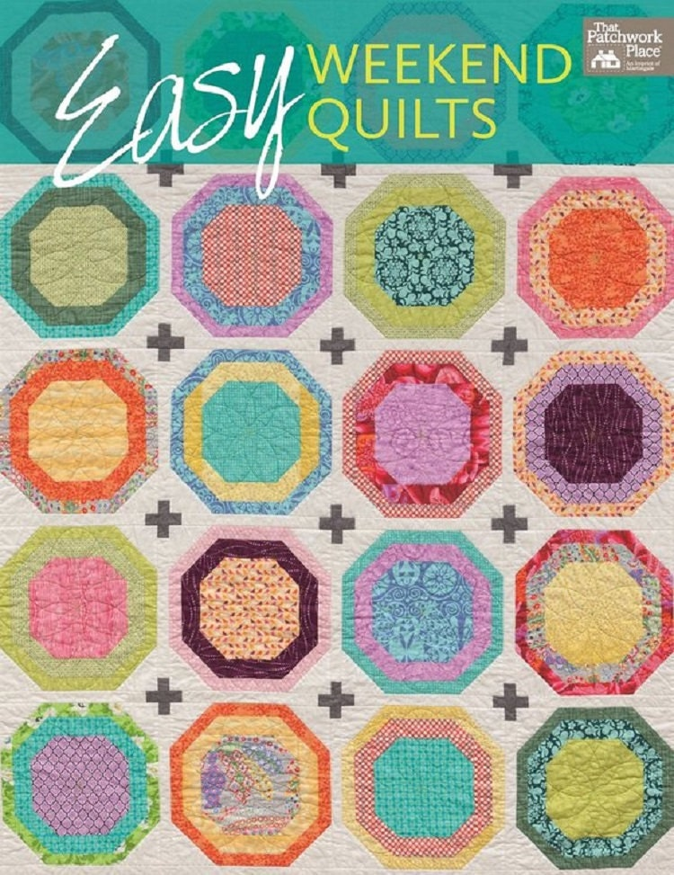 Quilt book sale easy weekend quilts easy quilts step by for Best selling home decor etsy