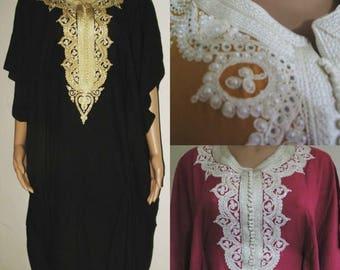 25% OFF Summer SALE Kaftan Maxi Dress Moroccan Abaya Dubai Long Arabian Farasha Caftan Plus size start from size 6 US 8 Uk Premium Cotton No
