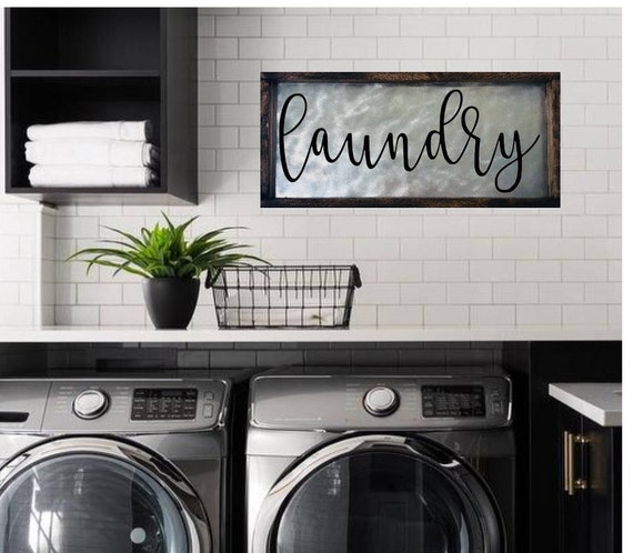 Laundry Decor Laundry Room Decor Laundry Sign Decor Wood Laundry Room