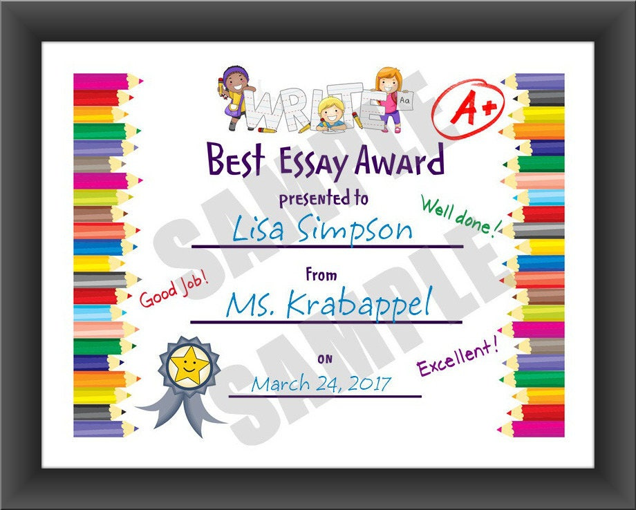 Kids Certificate, Spelling Bee, For Teachers, Pdf Download