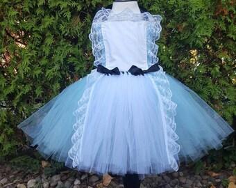 Alice in Wonderland Costume, Alice in Wonderland Tutu, Alice in Wonderland Birthday
