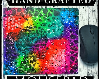 Hand painted Mixed Media Mousepad