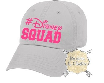 Disney Squad Hat, Baseball Hat, Dad Hat, Dad Cap, Disney Hat