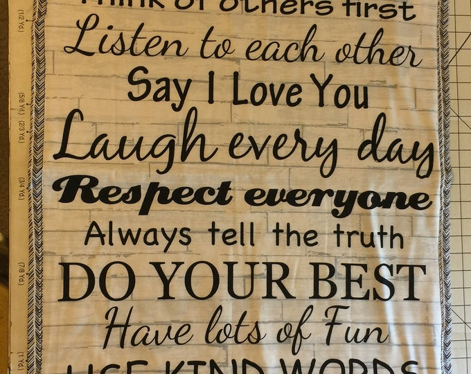 Handmade Quilt Panel Wall Hanging, Inspirational Quote,   3 Available To Choose From!