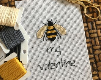 Bee My Valentine Cross Stitch Pattern