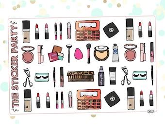 DE001 Makeup Planner Stickers