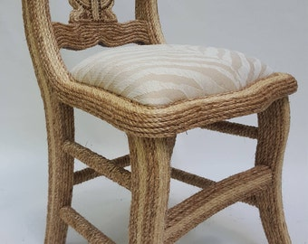 Roped Accent Chair with Zebra