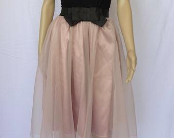 Tea Length Chiffon Skirt (Black or Pink)