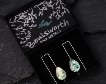 Perlemoen Earrings - Abalone Mother of Pearl- Minimalist Jewellery - Square Modern Earrings - Bridal Wedding Gift Bridesmaid - Birthday Gift