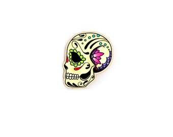 Calavera Ring - Dia de los Muertos Adjustable Band - Day of the Dead Sugar Skull