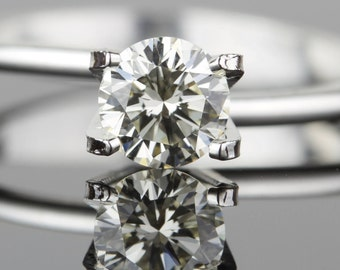 0.57 carat Loose Diamond - Ideal Cut - 5.31mm Round VS1 L - Natural White Diamond - Purchase Loose or Customize - Hearts and Arrows