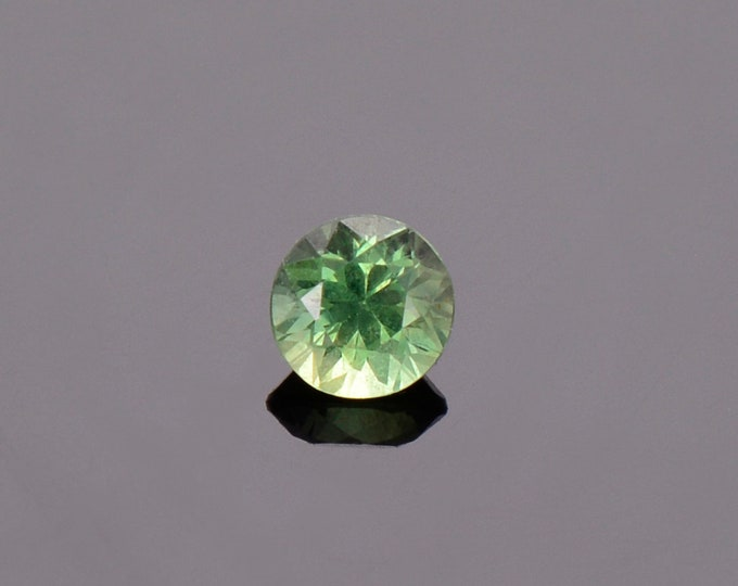 SALE EVENT! Green Sapphire Gemstone from Montana, Round, 0.46 cts., 4.4 mm.
