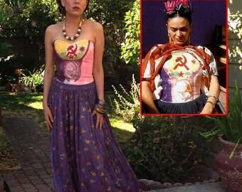 Frida Kahlo top inspired by Frida's cast. Frida Kahlo costume. Size XS