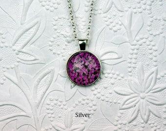 Pink Impatiens Photo Necklace Pink Flower Jewelry Photo Jewelry