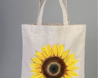 Sun Flowers Wedding Tote Bag, Sunflower Gifts, Personalized Tote, Cotton Bags Logo, Tote Bag Canvas, Handmade Bags, Welcome Tote Bags,
