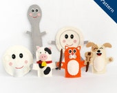 Pattern, Hey Diddle Diddle Pattern, Finger Puppet Pattern, Moon Pattern, Spoon Pattern, Cow Pattern, Cat Pattern, Dog Pattern, Dish Pattern