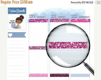 On Sale Pink Glitter Headers, Glossy Headers, Pink Headers, Perfect for EC, Glitter Headers, Pink Glossy Glitter Headers, Vertical Headers,