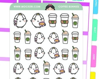 Coffee Bunnies / Planner Stickers