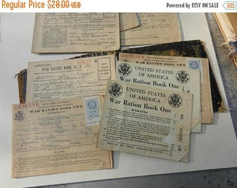 Summer Sale Original WW2 US Ration Books in Home Made Folder