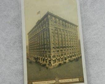 Summer Sale Vintage Davenport Hotel Spokane Washington Post Card