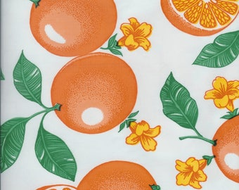 Citrus oilcloth by the yard