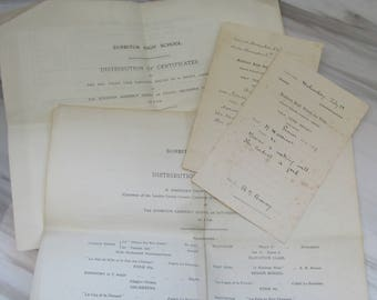 Antique 1909 - 1911 School Ephemera - Surbiton High School for Girls