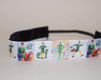 Elf Headband- Buddy the Elf Headband- Jovie the Elf- Papa the Elf- Sport Headband-