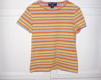 RALPH LAUREN size M - vintage 1990's t-shirt