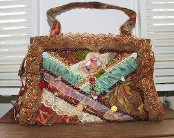 Shabby Chic pocket, purse, pocket romantic