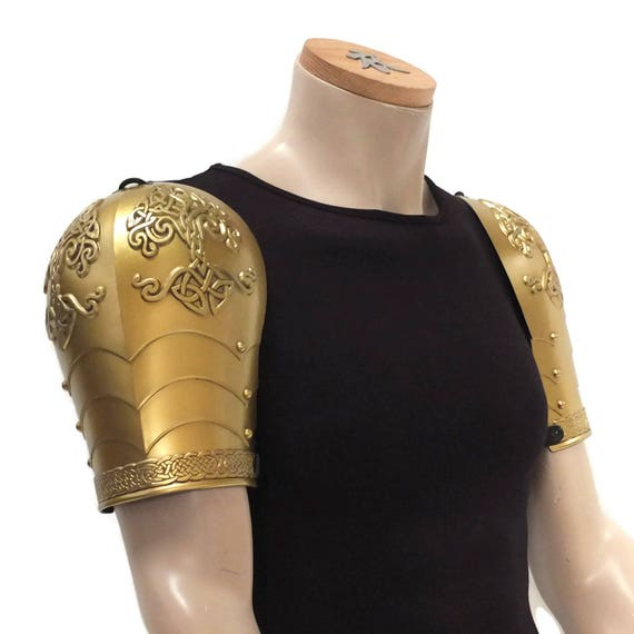 Larp Armor, Celtic Tree Yggdrasil fantasy shoulder armor, knotwork, celtic knot, Pauldrons. Cosplay armor
